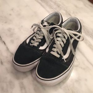Dark Green Vans Old Skool Women's 8/Men's 6.5